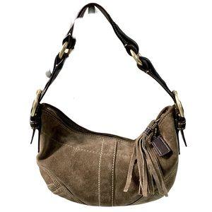 COACH (G) Hobo 8A14 Suede Tassel Shoulder Bag 7x10